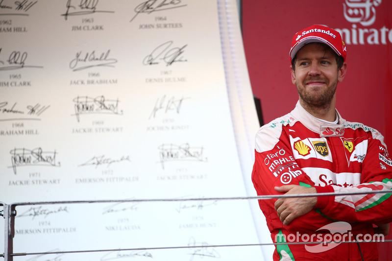 Segundo lugar Sebastian Vettel, Scuderia Ferrari SF16-H