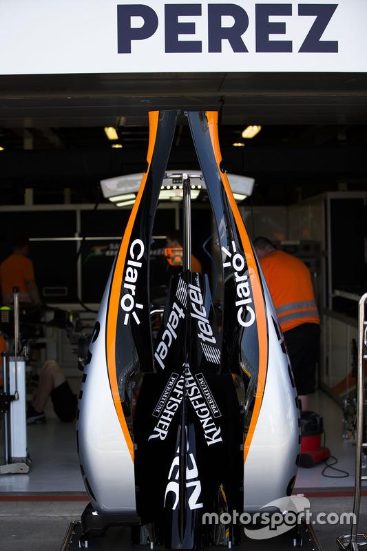 Sahara Force India F1 VJM09 engine cover