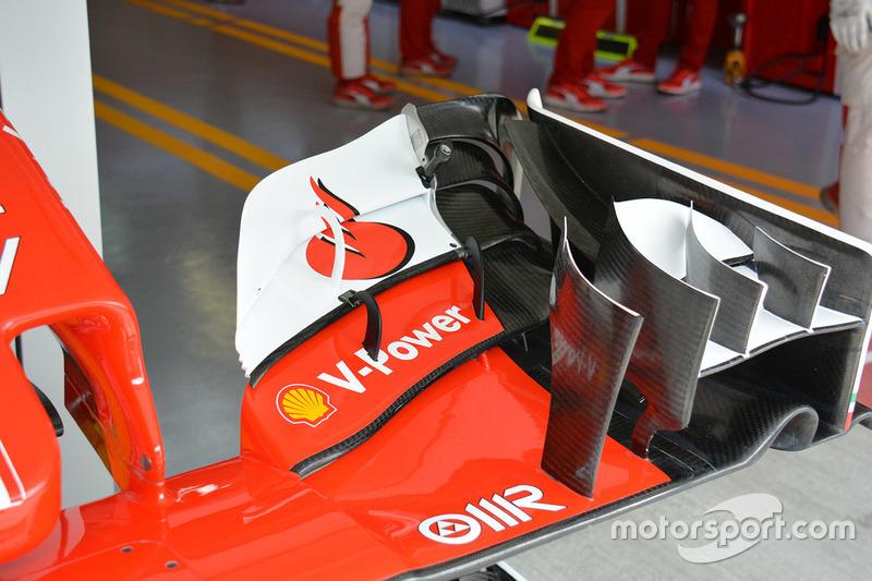 Detail Frontflügel, Ferrari SF16-H