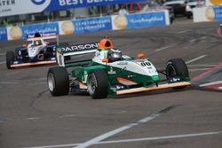 Jake Parsons, Juncos Racing, leads teammate Nicolas Dapero