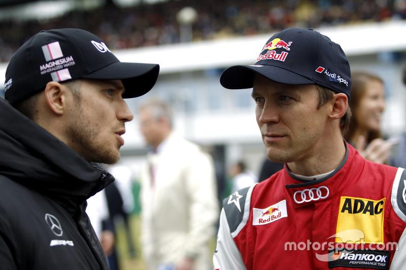 Edoardo Mortara, Mercedes-AMG Team HWA, Mercedes-AMG C63 DTM, Mattias Ekström, Audi Sport Team Abt S
