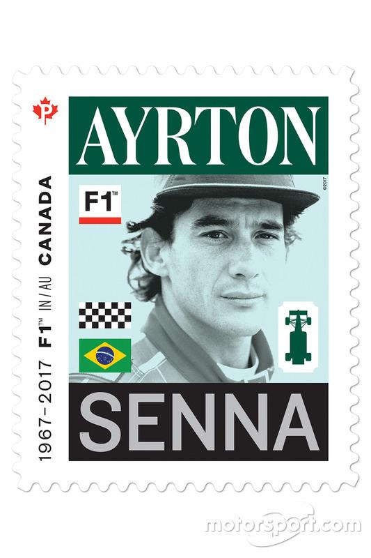 Ayrton Senna stamp