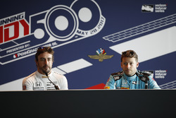 Fernando Alonso, Andretti Autosport, Honda; Marco Andretti, Andretti Autosport, Honda