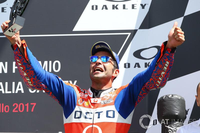 Podium: Danilo Petrucci, Pramac Racing, Andrea Dovizioso, Ducati Team
