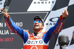Podio: Danilo Petrucci, Pramac Racing, Andrea Dovizioso, Ducati Team