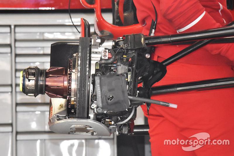 Freno delantero del Ferrari SF70H