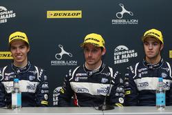 Победители гонки Уилл Оуэн, Юго де Саделер и Филипе Альбукерк, United Autosports