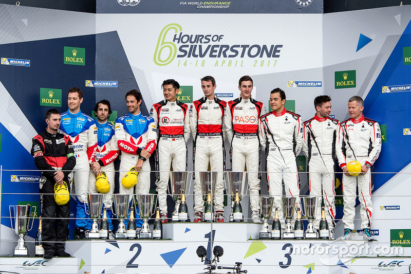 Podium LMP2: Race winners #38 DC Racing Oreca 07 Gibson: Ho-Pin Tung, Oliver Jarvis, Thomas Laurent,
