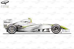 Brawn BGP 001 2009 side view