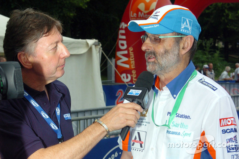henri pescarolo interviewed by jean luc roy of motors tv at 24 hours of le mans. Black Bedroom Furniture Sets. Home Design Ideas