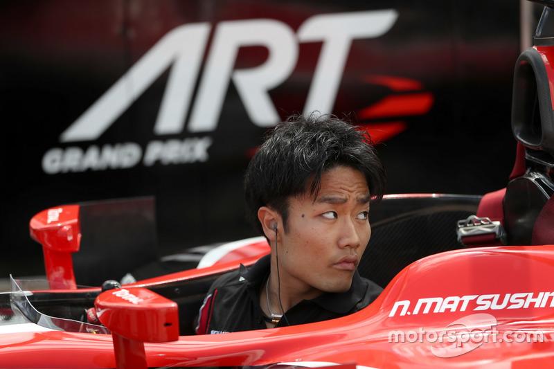Nobuharu Matsushita, ART Grand Prix during pitstop practice