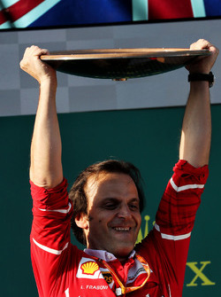 Podium: Luigi Fraboni, Ferrari Head of Engine Trackside Operations
