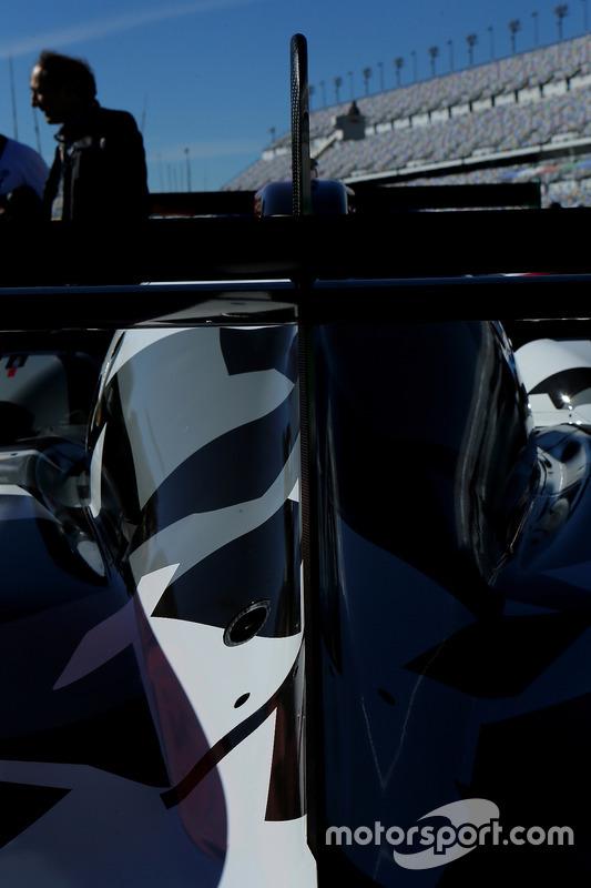 Detalle del #13 Rebellion Racing ORECA 07: Neel Jani, Sébastien Buemi, Stéphane Sarrazin, Nick Heid