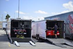 Crews upload the #95 TA2 Chevrolet Camaro, Scott Lagassee Jr. and #96 TA2 Chevrolet Camaro, Kyle Marcelli, Fields Racing