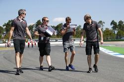 Romain Grosjean, Haas F1 Team, walks the track