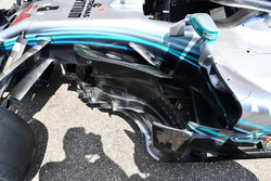 Mercedes-AMG F1 W09, dettaglio del bargeboard
