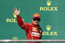 Third place Kimi Raikkonen, Ferrari