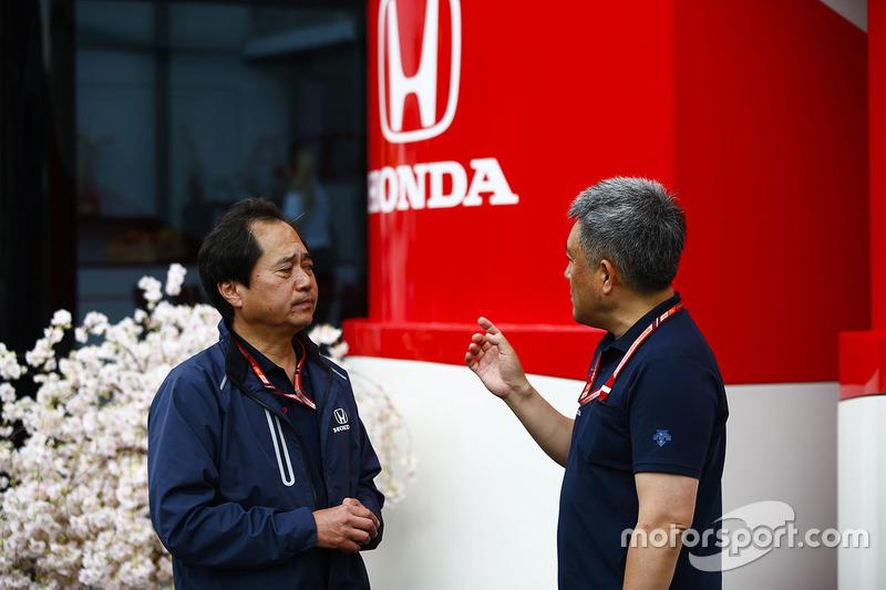 Toyoharu Tanabe, directeur technique F1, Honda, avec Masashi Yamamoto, manager général, Honda Motorsport