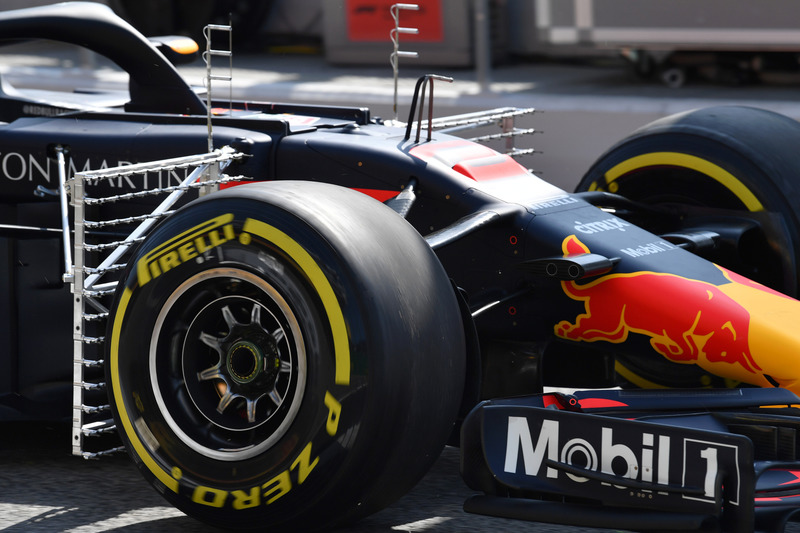 Red Bull Racing RB14 y aero sensor