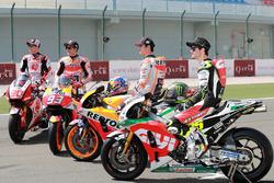 Takaaki Nakagami, Team LCR Honda, Marc Marquez, Repsol Honda Team, Dani Pedrosa, Repsol Honda Team,