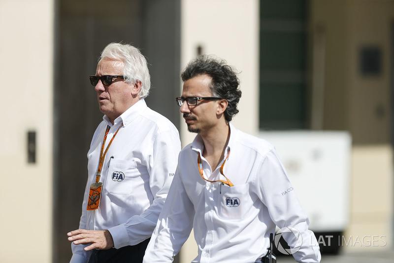 Charlie Whiting, FIA Delegate, Laurent Mekies, FIA Safety Director