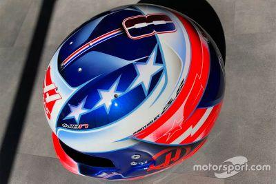 Helmdesign von Romain Grosjean