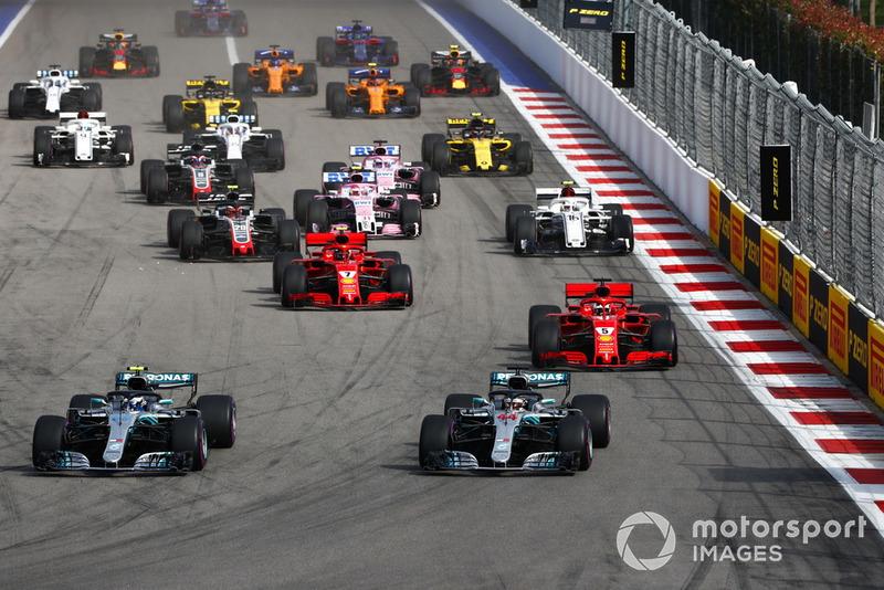 Bottas mantiene posición y Vettel no puede pasar a Hamilton