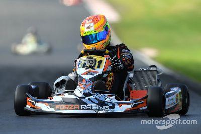 Photos de George Russell en karting