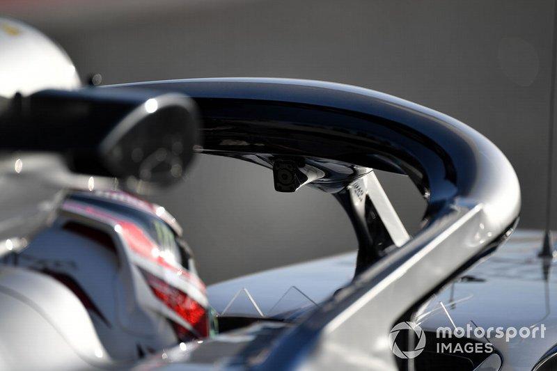 Lewis Hamilton, Mercedes-AMG F1 W10 EQ Power+ avec la caméra face au pilote sur le Halo