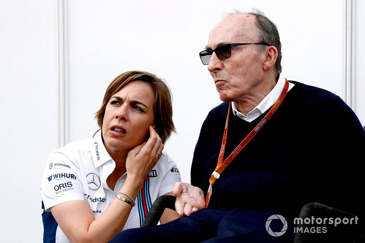 Claire Williams, Williams Deputy Team Principal with her father Sir Frank Williams, Team Principal