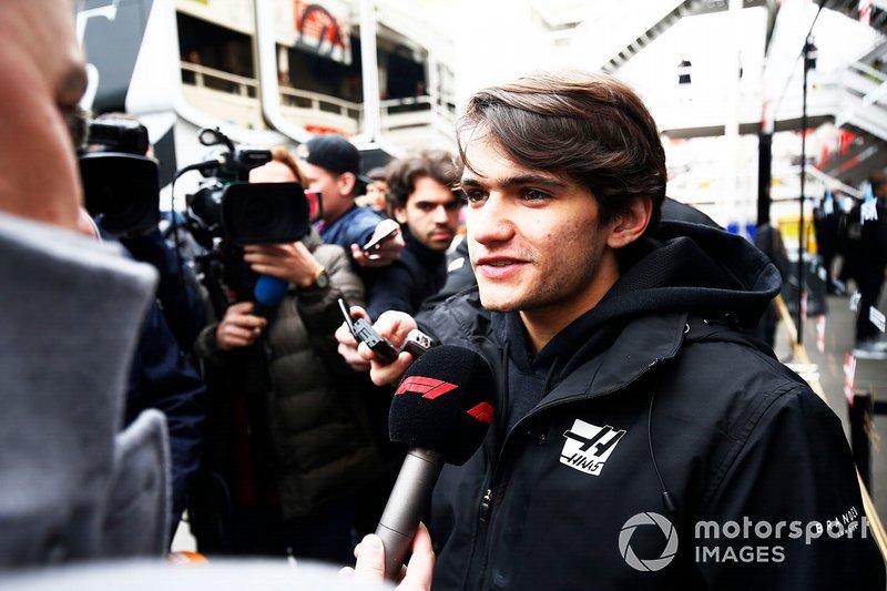 Pietro Fittipaldi, Haas F1, parle à la presse