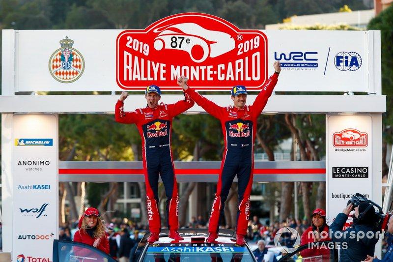 I vincitori Sébastien Ogier, Julien Ingrassia, Citroën World Rally Team Citroen C3 WRC
