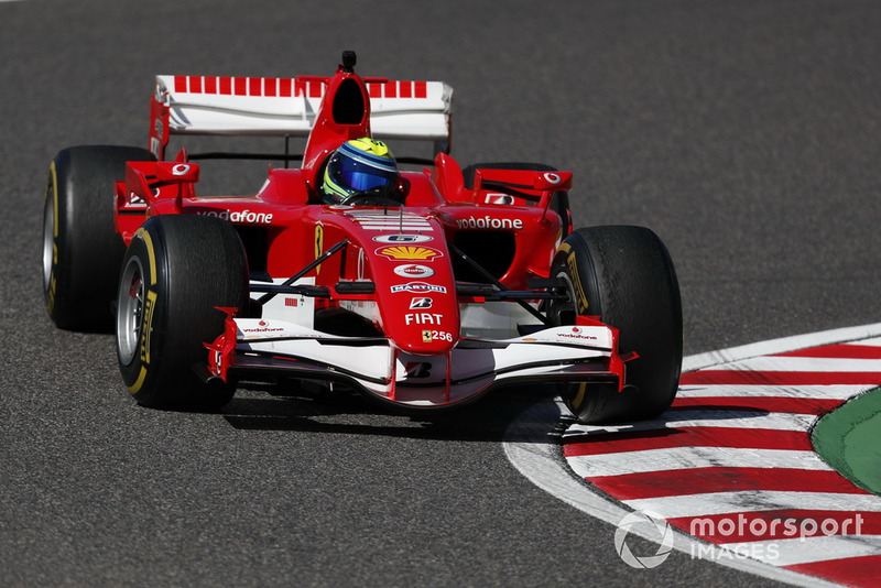 Felipe Massa, Ferrari lors des Legends F1 30th Anniversary Lap Demonstration