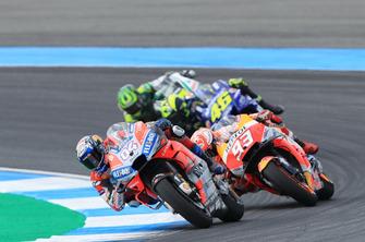 Andrea Dovizioso, Ducati Team, Marc Marquez, Repsol Honda Team, Valentino Rossi, Yamaha Factory Racing, Cal Crutchlow, Team LCR Honda
