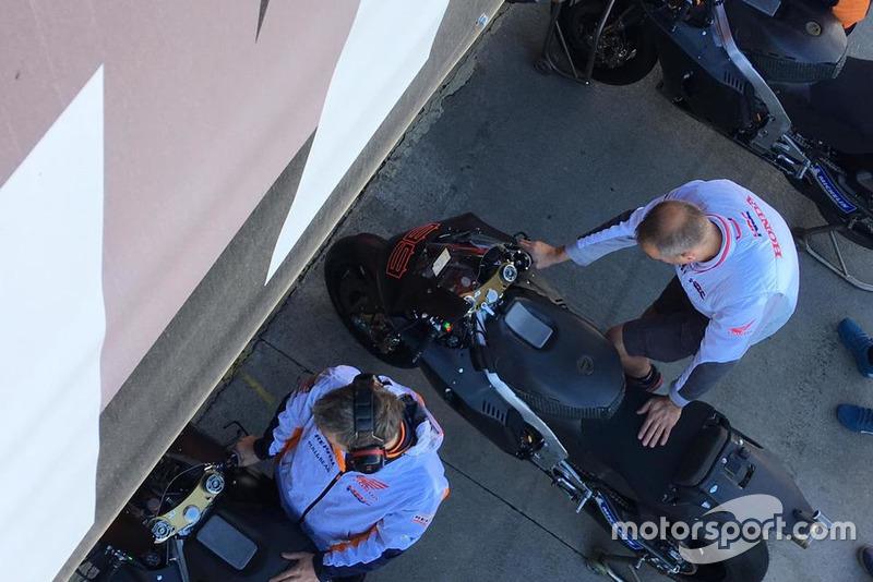 Honda prépare la moto de Jorge Lorenzo