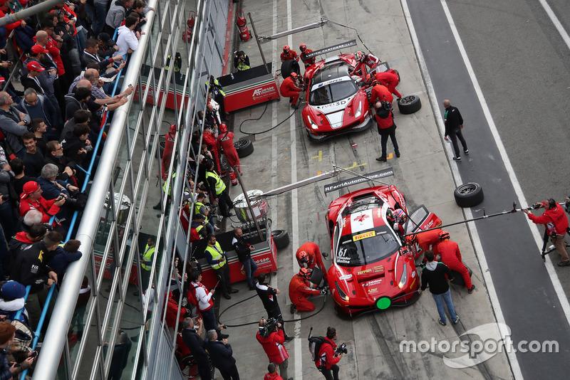 #61 Ferrari 488 GT3: Toni Vilander, Miguel Molina