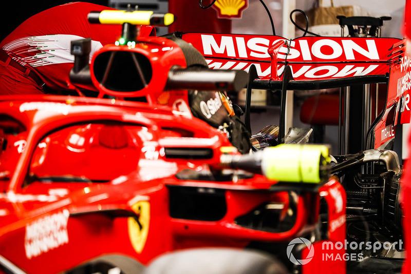 Marca de Philip Morris Mission Winnow en el Ferrari SF71H
