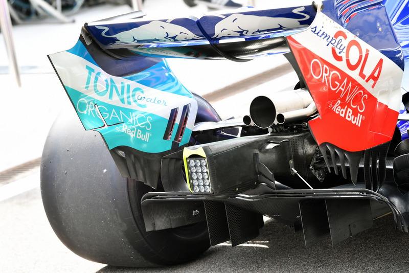 Trasera del Scuderia Toro Rosso STR13