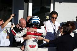 Le champion 2017, René Rast, Audi Sport Team Rosberg, Audi RS 5 DTM avec le Dr. Wolfgang Ullrich, ancien directeur Audi Sport
