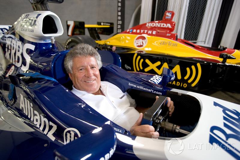 Mario Andretti in a Williams F1 car