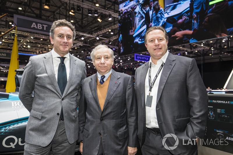 Alejandro Agag, CEO of Formula E, Jean Todt, FIA President, Zak Brown