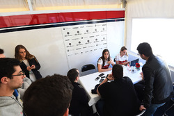 Tatiana Calderon, Alfa Romeo Sauber F1 Team Test Driver talks with the media