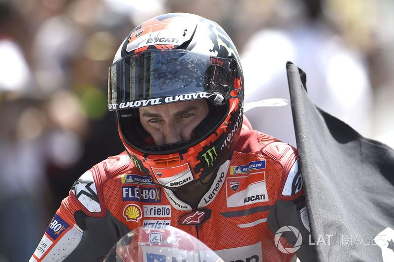 Ganador de carrera Jorge Lorenzo, Ducati Team
