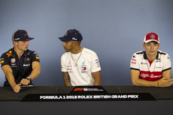 Max Verstappen, Red Bull Racing, Lewis Hamilton, Mercedes-AMG F1 ve Charles Leclerc, Sauber Basın Toplantısı