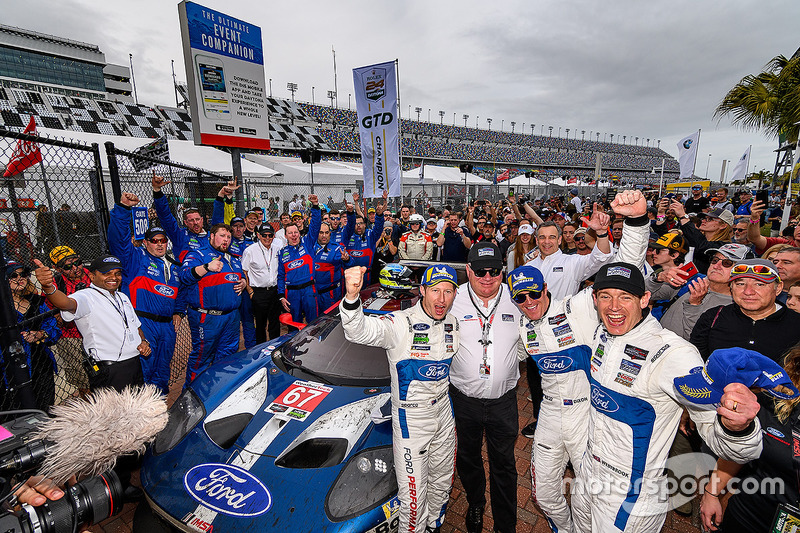 GTML first place #67 Chip Ganassi Racing Ford GT, GTLM: Ryan Briscoe, Richard Westbrook, Scott Dixon