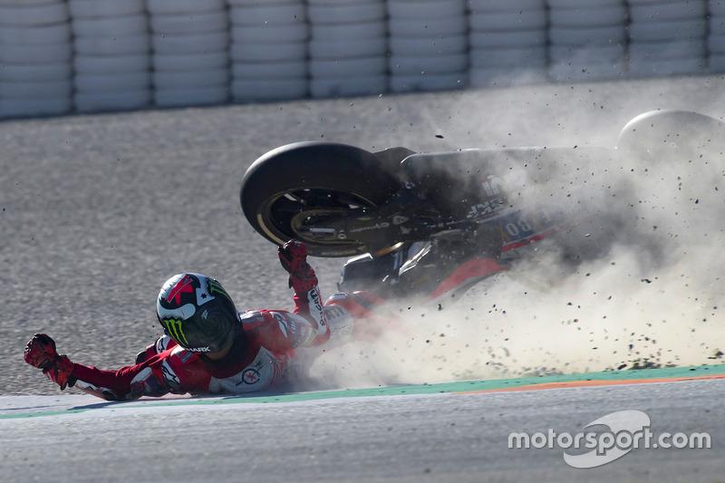 Choque de Jorge Lorenzo, Ducati Team