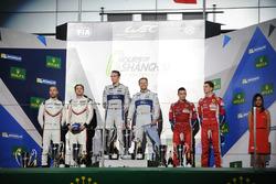GT Pro Podium: #67 Ford Chip Ganassi Team UK  Ford GT: Andy Priaulx, Harry Tincknell win