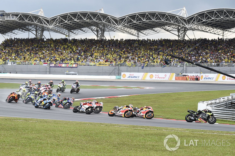 Johann Zarco, Monster Yamaha Tech 3, 1st lap