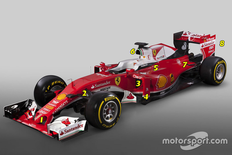 Детали Ferrari SF16-H