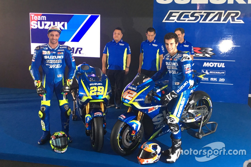 Andrea Iannone und Alex Rins mit der Suzuki GSX-RR für die MotoGP-Saison 2017